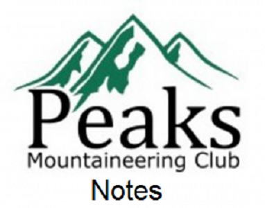 Peaks Mountaineering Club Notes 28.10.14