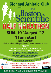 Post image for Clonmel Athletic Club – The Boston Scientific Half Marathon 2012