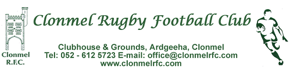 Clonmel Rugby Football Club:  Notes September 29th 2014