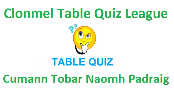 Clonmel table quiz league round one for Table quiz rounds