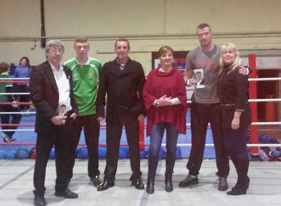 Sinn Fein Election Candidates visit Clonmel Boxing Club