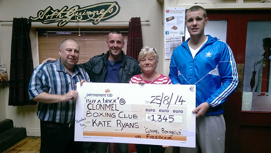 Clonmel Boxing Club's Buy a Brick Campaign gets a boost from Kate Ryans