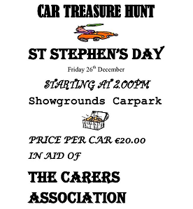 Car Treasure Hunt in Aid of The Carers Association