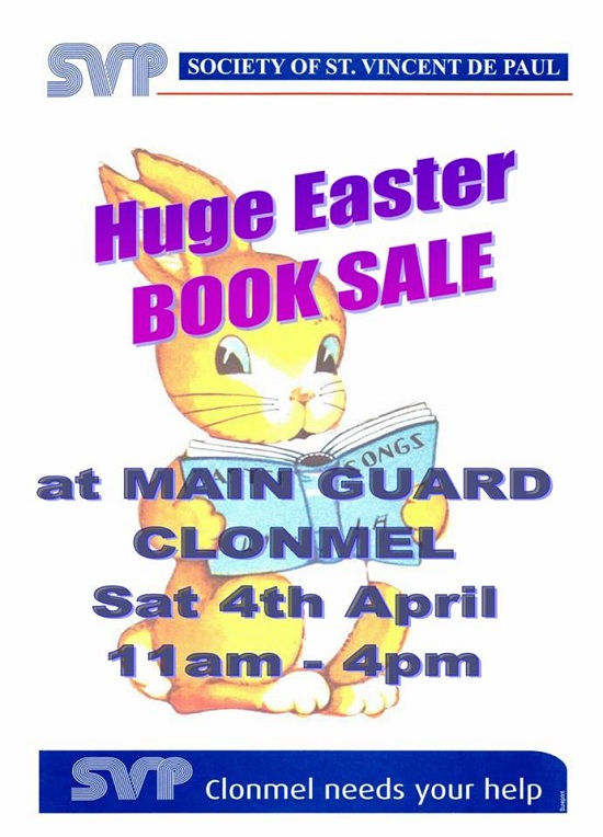 Vincent's Secondhand Bookshop - Huge Easter Book Sale @ Main Guard