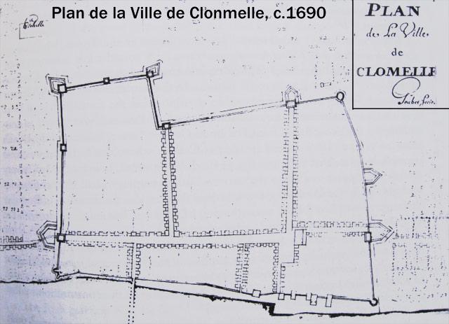 planDeVilleClonmelle1690