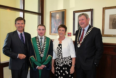 Mayor Cllr. Martin Lonergan honours Majella O'Donnell with reception at Town Hall Clonmel