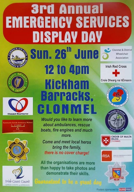 3rd Annual Emergency Services Display Day @ Kickham Barracks