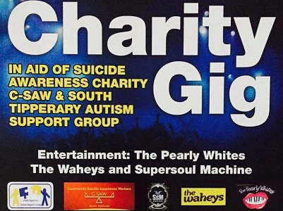 Post image for Charity Gig 2017 once again to benefit C-Saw and South Tipperary Autism Support Group