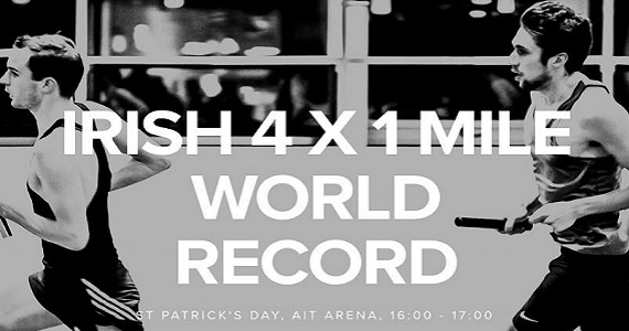 Post image for Clonmel's Sean Tobin part of Irish 4 x 1 Mile Indoor World Record attempt