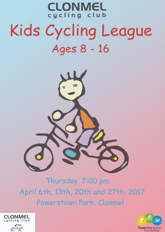 Kids Cycling League 8 - 16 years with Clonmel Cycling Club 2017 @ Powerstown Park