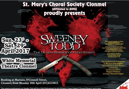 Post image for St Marys Choral Society proudly presents Sweeney Todd