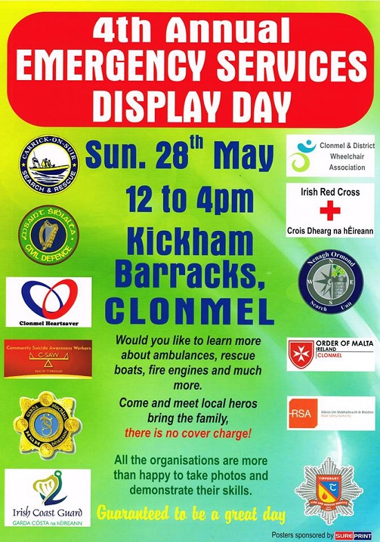 4th Annual Emergency Services Display Day @ Kickham Barracks