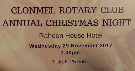 Clonmel Rotary Club Annual Christmas Night 2017