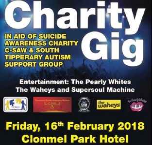 Charity Gig 2018 in aid of C-Saw and South Tipperary Autism Support Group @ Clonmel Park Hotel