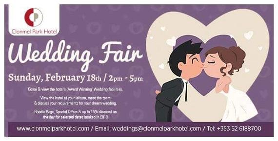 Wedding Fair at the Clonmel Park Hotel @ Clonmel Park Hotel