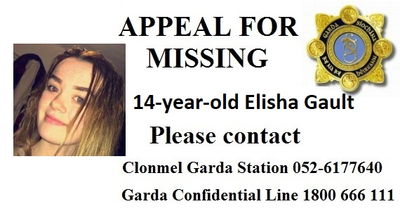 Gardai appeal for information on missing Carrick on Suir teenager
