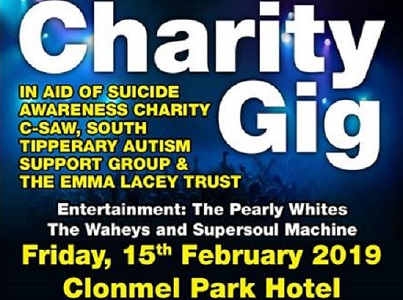 Charity Gig 2019 @ Clonmel Park Hotel