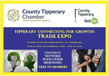 County Tipperary Chamber Trade Expo 2019 – FREE ADMISSION TO THE PUBLIC!
