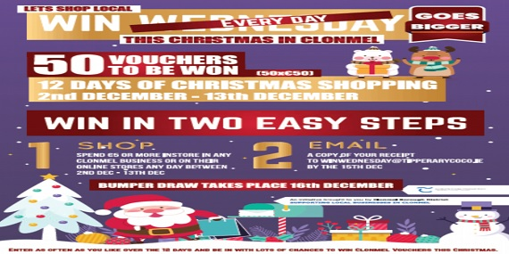 12 Days of Christmas Bumper Draw – Clonmel Borough District